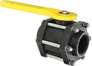 Banjo V200FP - Válvula de bola de polipropileno, 3 piezas, puerto completo, 5 cm NPT hembra
