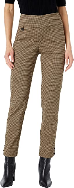 Ruth Check Slim Ankle Pants