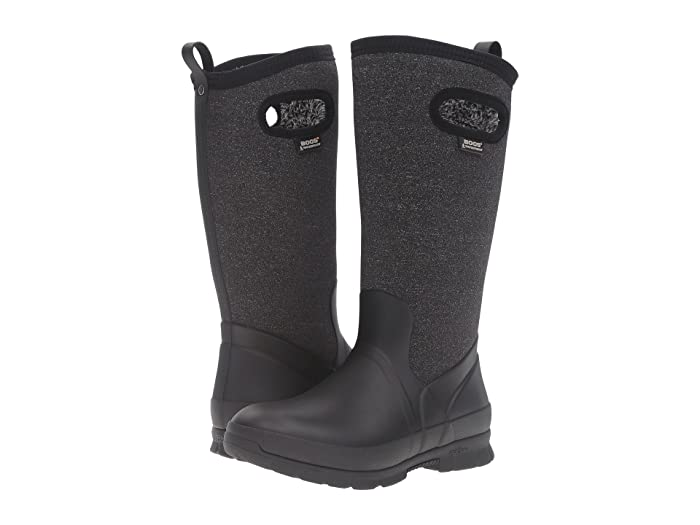 Bogs  Crandall Tall (Black Multi) Womens Waterproof Boots