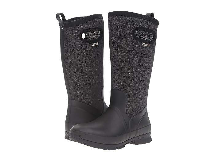 Bogs  Crandall Tall (Black Multi) Womens Waterproof Boots