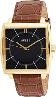 Guess Monarch Men's Black Dial Leather Band Watch - W1035G1