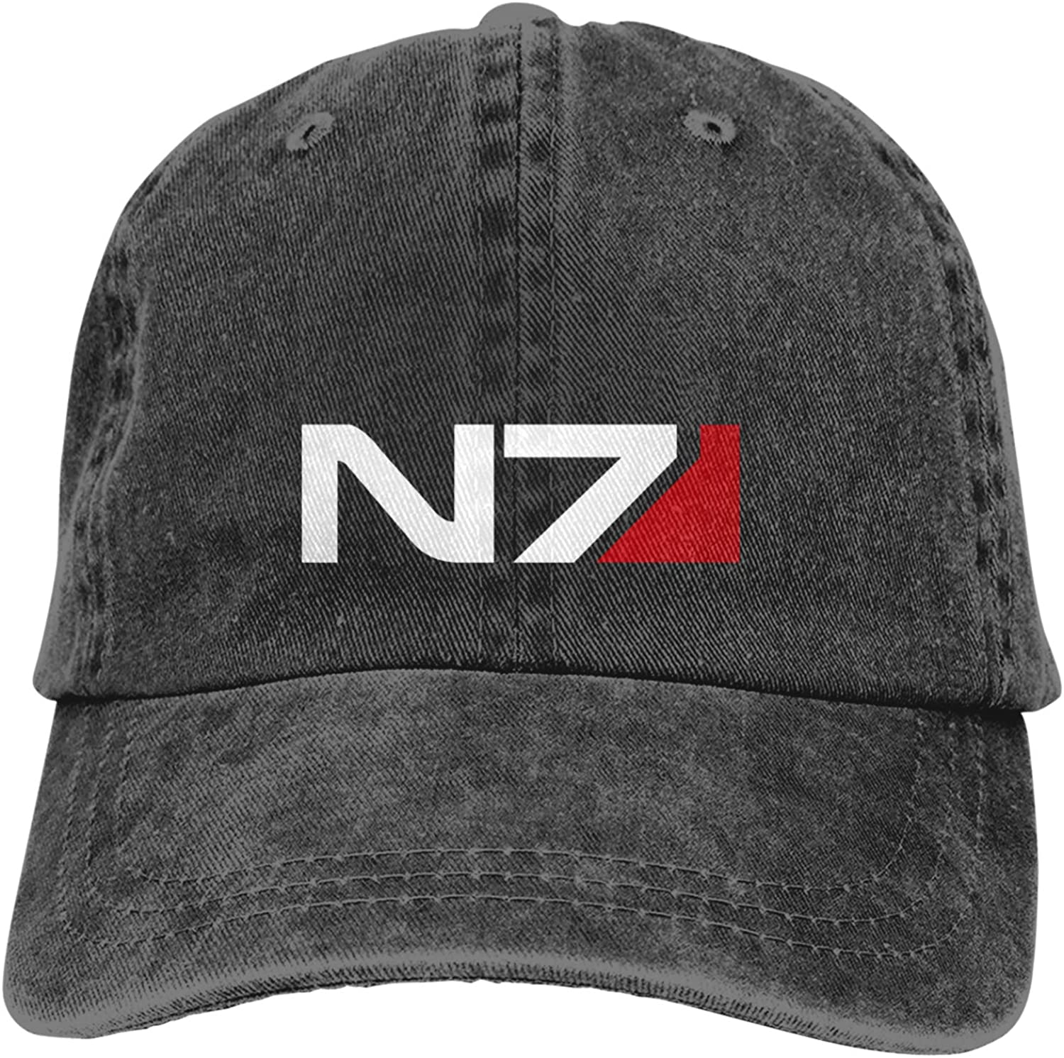 Booottty Mass Effect Alliance N7 Special Forces Adjustable Retro Baseball Cap Trucker Hat Novelty Dad Hat for Mens Womens