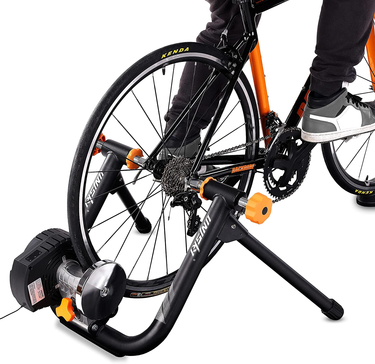 Unisky DJS3 Smart Bike Trainer Electromagnetic Resistance Trainer Indoor Riding Cycling Bicycle Trainer, Automatic Resistance Adjustment, Built-in Power Speed Sensor, ANT+, Bluetooth, Zwift Compatible : Sports & Outdoors