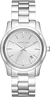 Women's Runway Three Hand Silver Stainless Steel Watch MK6332