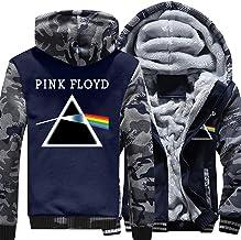 Mannen hoodie jassen trui - Pink Floyd Print herfst Winter Pullover Zip warme Hooded lange mouw Sweatshirt Tops - tiener k...