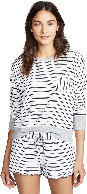 Splendid Womens Pajamas 3 4 Sleeve Pj Lounge Shirt Pajama Top