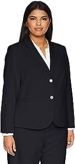 Calvin Klein Women's Plus Size Two Button Lux Blazer
