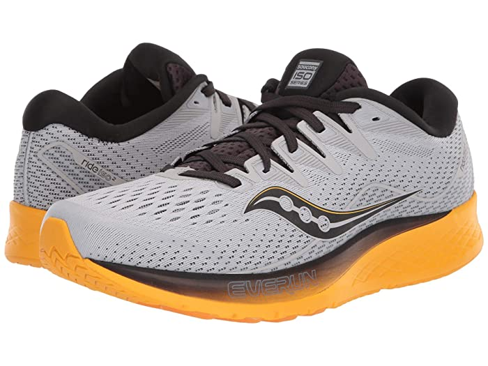 Saucony  Ride ISO 2 (Grey/Yellow) Mens Shoes