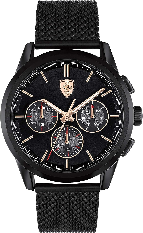 Scuderia Ferrari Reloj Cosa análoga para de los Hombres de Cuarzo con Correa en Acero Inoxidable 830807