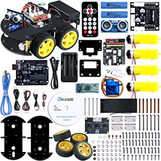 ELEGOO Smart Robot Car Kit V 3.0 UNO R3 Project with Microcontroller, LineTracking Module, Ultrasonic Sensor, Bluetooth Module etc. STEM Toy Car Robotic Kit Compatible with Arduino IDE