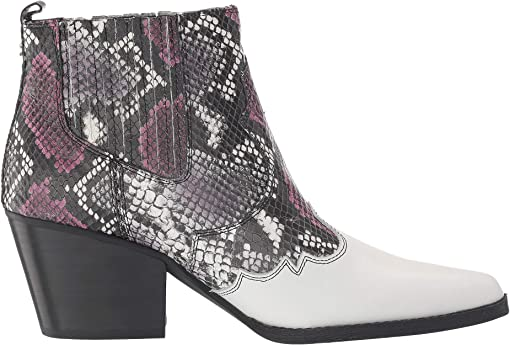 Berry Multi Exotic Snake Print Leather/Vaquero Saddle Leather