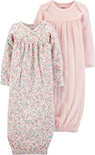 Carter's Baby Girls' 2-Pack Sleeper Gowns Pink Floral