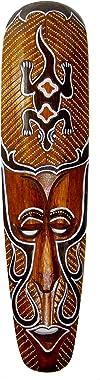 "NareeGreen African Mask Wall Hanging Decor Gekko and Protection Mask, Large 20"""