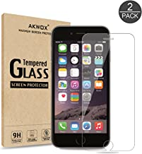 (Pack of 2) iPhone 8, 7, 6S, 6 Screen Protector, Akwox 0.33mm High Definition Clear Tempered Glass Screen Protector for iPhone 6S / 6 /iPhone 8/7