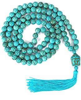 Yoga Meditation 108 Tibetan 8mm Natural Gemstone Prayer Buddha Beads Mala Wrap Bracelet Necklace