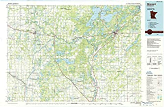 YellowMaps Brainerd MN topo map, 1:100000 Scale, 30 X 60 Minute, Historical, 1986, Updated 1986, 27.23 x 21.53 in
