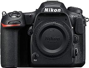 كاميرا نيكون D500 الهيكل فقط - 20.9 ميجابكسل، كاميرا رقمية عاكسة أحادية العدسة، اسود