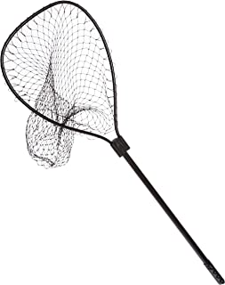 Ed Cumings Black Deluxe Style Boat Net with Slide Away Handle (Black, 18-Inch x 22-Inch Bow x 30-Inch Handle x 30-Inch Depth)