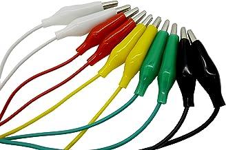 オーディオファン ワニグチクリップコード 10本 セット micro bit 電子工作 (ホワイト・レッド・イエロー・グリーン・ブラック 各2本) 日本国内より発送