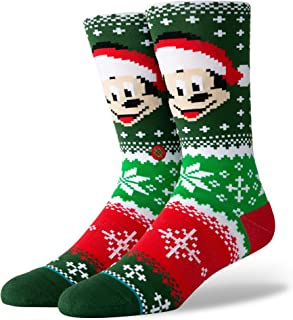 Stance Men's Mickey Claus Sock Cotton Polyester Elastane