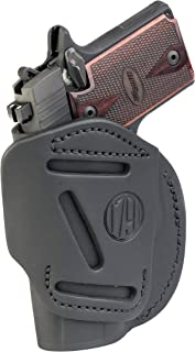 1791 GUNLEATHER 4-Way SIG P938 Holster - OWB and IWB CCW Holster - Right Handed Leather Gun Holster - Fits Sig Sauer P938, P365, Ruger LCP 380, SW Bodyguard (4 Way Size 2)