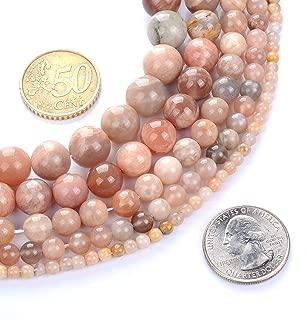 FANGQUN Natural Sunstone Beads for Bracelets Gemstone Beads Round Bulk for Jewelry Making Energy Healing Chakra Beads (95pcs, 4mm)