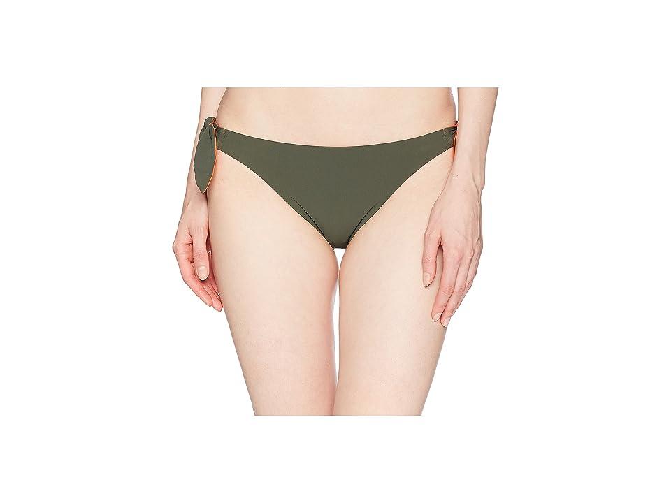 Tory Burch Swimwear Biarritz Bottoms (Green Olive/Sweet Tangerine) Women