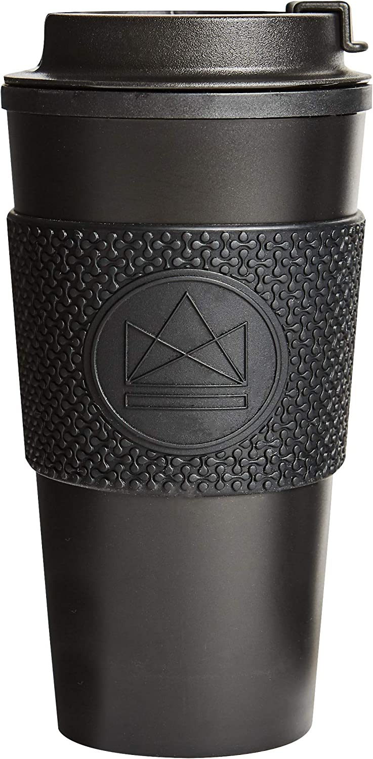 Neon Kactus 16oz/460ml | Double Walled Travel Mug/Tumbler | Reusable Coffee Cup | Fully Leakproof Lid | Keeps your Drink Hot & Cold | 100% Recyclable - Rock Star 16oz