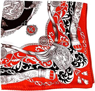 Silk Run 55cmx55cm /'Flores/' bufanda cuadrada de seda 100/%