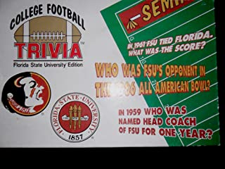 University of Florida College Football Trivia Game 1995