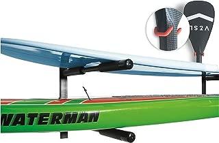 COR   2 tablas de doble SUP   tabla de surf   Paddle Board pared del estante   Monte Heavy Duty   Acero revestido de polvo   Garantía de por vida