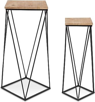 Amazon Com We Furniture Geometric Glass Nesting Coffee
