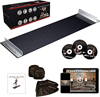 Obsidian Exercise Slide Board - 6' and 5' Foot Slide Board for High Intensity and Low Impact Exercise | Fitness Board for Weight Loss and HIIT