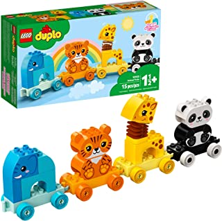 LEGO DUPLO My First Animal Train 10955 Pull-Along Toddlers' Animal Toy with an Elephant, Tiger, Giraffe and Panda, New 202...
