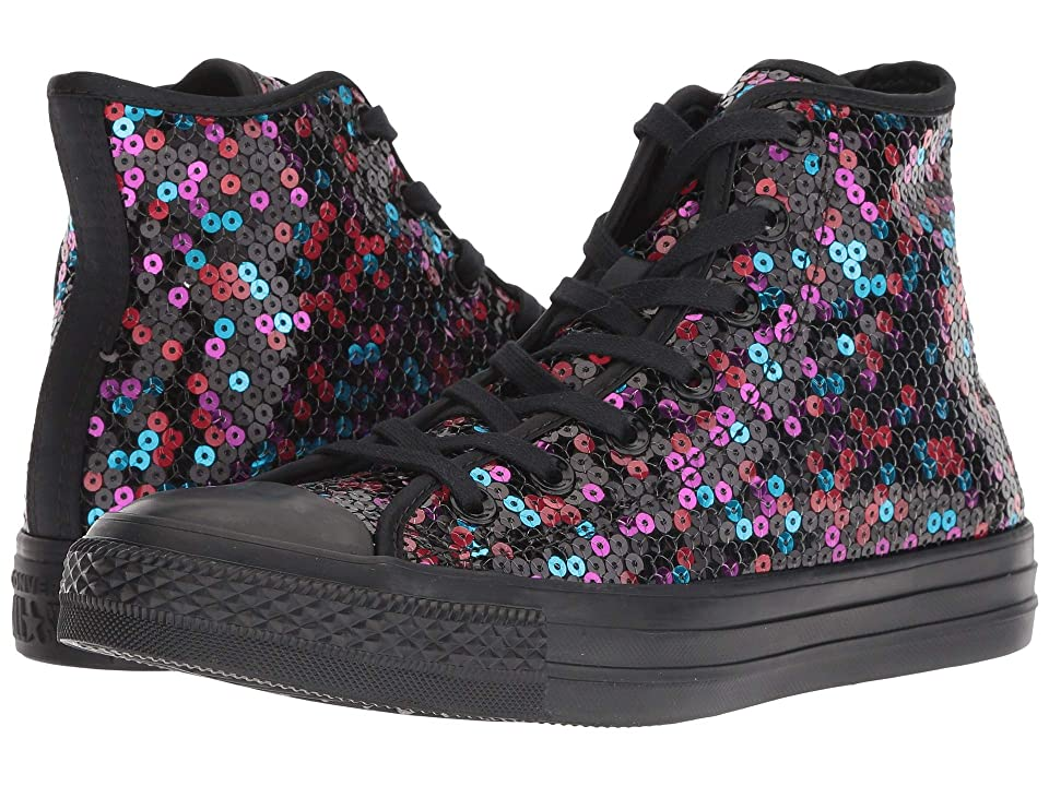 Converse Chuck Taylor All Star Sequined Hi (Black/Blue/Cherry Red) Women