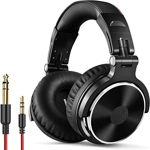 OneOdio Wired Over Ear Headphones Studio Monitor & Mixing DJ Stereo Headsets with 50mm Neodymium Drivers and 1/4 to 3...