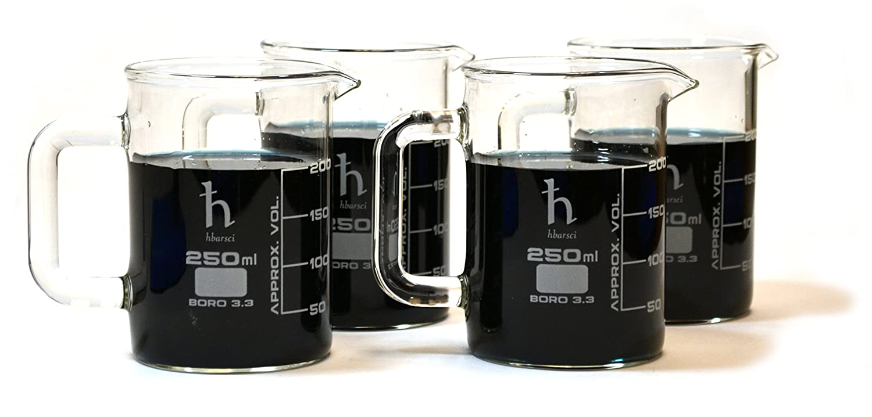 Premium Hand Crafted Beaker Quality sold out trend rank Laboratory Mugs Borosilicat