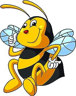 AUFKLEBER-UV-fest Rettet die Bienen Save the Bees Atemmaske Gasmaske S280 10cm