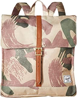 Brushstroke Camo/Tan Synthetic Leather