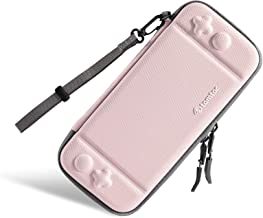Ultra Slim Carrying Case Fit for Nintendo Switch, tomtoc Original Patent Portable Hard Shell Travel Case Pouch Protective Cover, 10 Game Cartridges, Military Level Protection, Pink