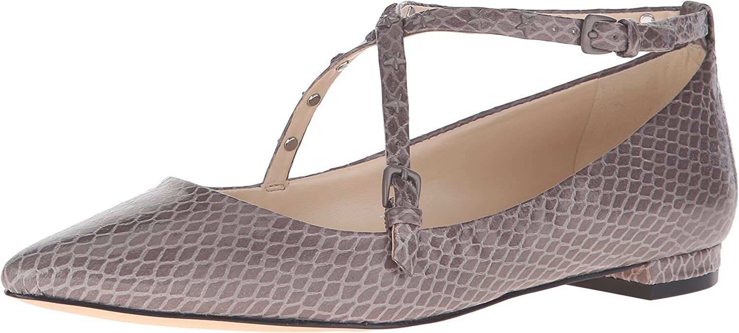 Nine West Womens Aquino Synthetic Pointed Toe Flat