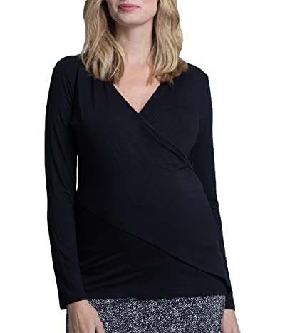 Angel Maternity Maternity Nursing Crossover Long Sleeve Top