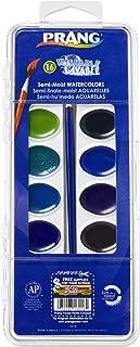 PRANG Washable Watercolor Paint Set, 16 Assorted Colors, Includes Brush (16016)