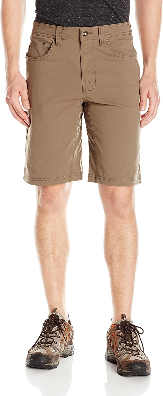 PrAna Men's Brion Shorts, Mud, 28W 11L