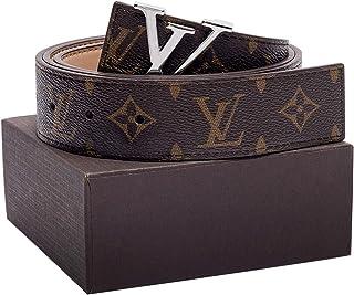 Gold/Silver/Black Buckle Leather Unisex Fashion Belt for Men or Women Pants Jeans Shorts Dresses ~ 3.8cm Belt Width