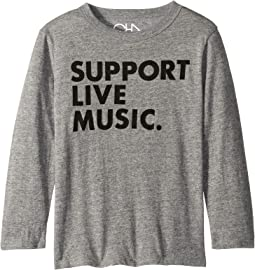Super Soft Support Live Music Print Long Sleeve Tee (Little Kids/Big Kids)