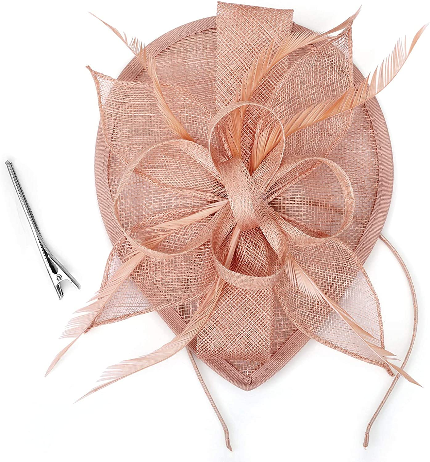 TCYIN Ladies Fascinators Hat Sinamay Cocktail Al sold out. Tea Party Hair Cli Large-scale sale