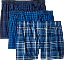 3-Pack Classic Fit Packaged Woven Boxers