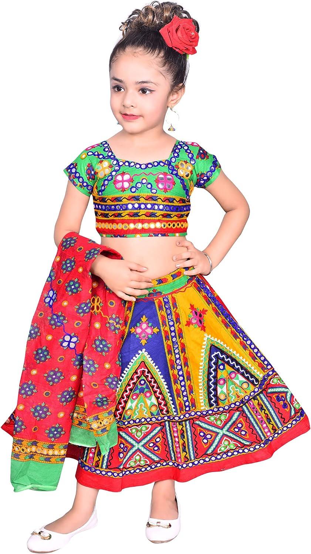 Ahhaaaa 55% OFF Kids Ethnic Super beauty product restock quality top Cotton Blend Lehenga Choli Chani Dress Radha