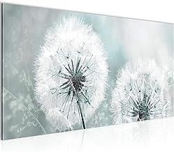 Tulup Leinwand-Bilder Wandbild Leinwandbild 140x70 Pusteblume Pflanzen